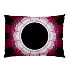 Circle Border Hole Black Red White Space Pillow Case