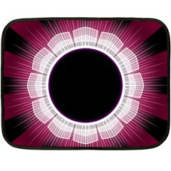 Circle Border Hole Black Red White Space Double Sided Fleece Blanket (Mini)