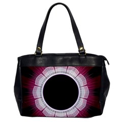 Circle Border Hole Black Red White Space Office Handbags
