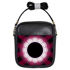 Circle Border Hole Black Red White Space Girls Sling Bags