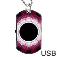 Circle Border Hole Black Red White Space Dog Tag Usb Flash (two Sides)