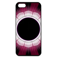 Circle Border Hole Black Red White Space Apple iPhone 5 Seamless Case (Black)
