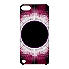 Circle Border Hole Black Red White Space Apple iPod Touch 5 Hardshell Case with Stand