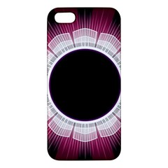 Circle Border Hole Black Red White Space Apple iPhone 5 Premium Hardshell Case