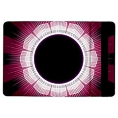 Circle Border Hole Black Red White Space iPad Air 2 Flip
