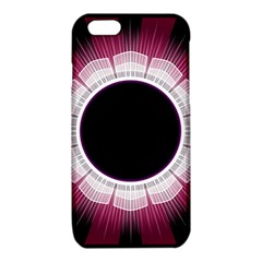 Circle Border Hole Black Red White Space iPhone 6/6S TPU Case