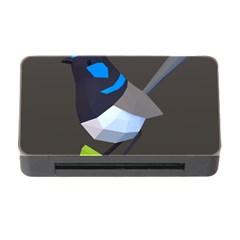 Animals Bird Green Ngray Black White Blue Memory Card Reader with CF