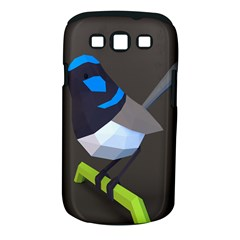Animals Bird Green Ngray Black White Blue Samsung Galaxy S III Classic Hardshell Case (PC+Silicone)