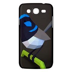 Animals Bird Green Ngray Black White Blue Samsung Galaxy Mega 5.8 I9152 Hardshell Case