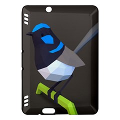 Animals Bird Green Ngray Black White Blue Kindle Fire HDX Hardshell Case