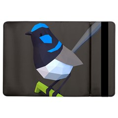 Animals Bird Green Ngray Black White Blue iPad Air 2 Flip