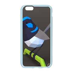 Animals Bird Green Ngray Black White Blue Apple Seamless iPhone 6/6S Case (Color)