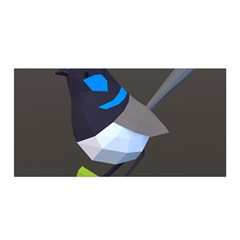 Animals Bird Green Ngray Black White Blue Satin Wrap