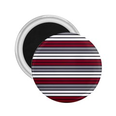 Fabric Line Red Grey White Wave 2.25  Magnets
