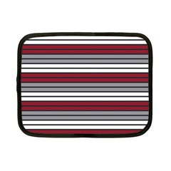 Fabric Line Red Grey White Wave Netbook Case (Small)