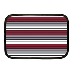 Fabric Line Red Grey White Wave Netbook Case (Medium)