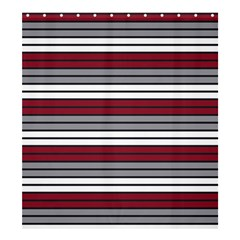 Fabric Line Red Grey White Wave Shower Curtain 66  X 72  (large)