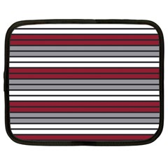 Fabric Line Red Grey White Wave Netbook Case (XXL)