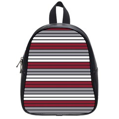 Fabric Line Red Grey White Wave School Bags (small)