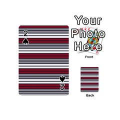 Fabric Line Red Grey White Wave Playing Cards 54 (mini)