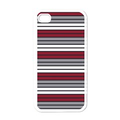 Fabric Line Red Grey White Wave Apple iPhone 4 Case (White)