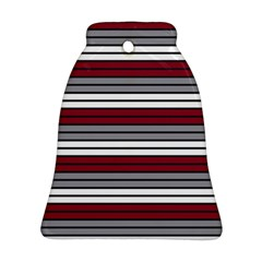 Fabric Line Red Grey White Wave Bell Ornament (Two Sides)
