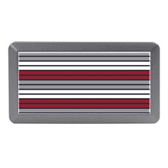 Fabric Line Red Grey White Wave Memory Card Reader (Mini)