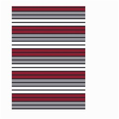 Fabric Line Red Grey White Wave Large Garden Flag (Two Sides)