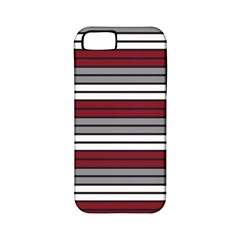 Fabric Line Red Grey White Wave Apple iPhone 5 Classic Hardshell Case (PC+Silicone)