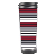 Fabric Line Red Grey White Wave Travel Tumbler