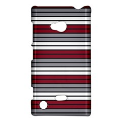 Fabric Line Red Grey White Wave Nokia Lumia 720
