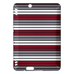Fabric Line Red Grey White Wave Kindle Fire HDX Hardshell Case