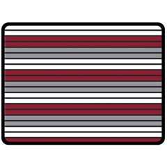 Fabric Line Red Grey White Wave Double Sided Fleece Blanket (Large)