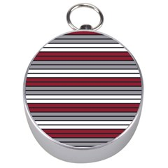Fabric Line Red Grey White Wave Silver Compasses