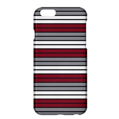 Fabric Line Red Grey White Wave Apple iPhone 6 Plus/6S Plus Hardshell Case