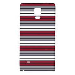 Fabric Line Red Grey White Wave Galaxy Note 4 Back Case