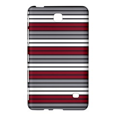 Fabric Line Red Grey White Wave Samsung Galaxy Tab 4 (7 ) Hardshell Case