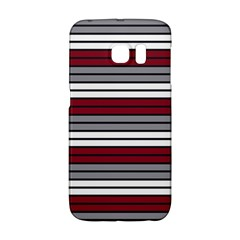Fabric Line Red Grey White Wave Galaxy S6 Edge