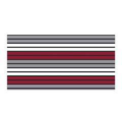 Fabric Line Red Grey White Wave Satin Wrap