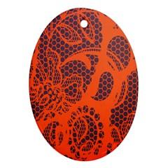 Enlarge Orange Purple Ornament (oval)