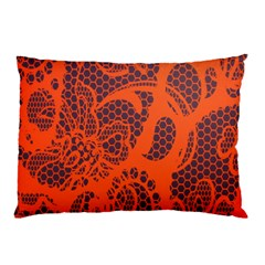 Enlarge Orange Purple Pillow Case
