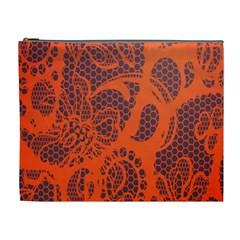 Enlarge Orange Purple Cosmetic Bag (xl)