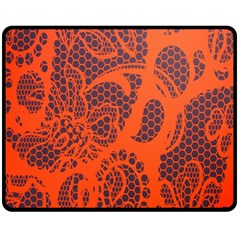 Enlarge Orange Purple Double Sided Fleece Blanket (Medium)