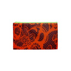 Enlarge Orange Purple Cosmetic Bag (XS)