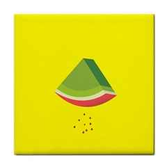 Fruit Melon Sweet Yellow Green White Red Tile Coasters