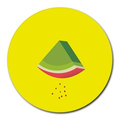 Fruit Melon Sweet Yellow Green White Red Round Mousepads