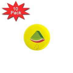 Fruit Melon Sweet Yellow Green White Red 1  Mini Magnet (10 Pack)