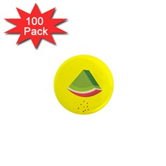Fruit Melon Sweet Yellow Green White Red 1  Mini Magnets (100 Pack)