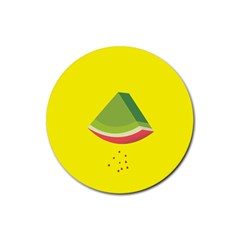 Fruit Melon Sweet Yellow Green White Red Rubber Coaster (Round)