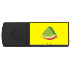 Fruit Melon Sweet Yellow Green White Red USB Flash Drive Rectangular (2 GB)